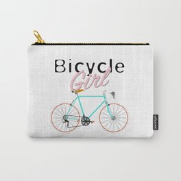 Bicycle Girl - June 12th - 200th Birthday of the Bicycle Carry-All Pouch