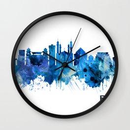 Bekasi Indonesia Skyline Blue Wall Clock