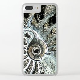 Pyrite after Ammonite Clear iPhone Case