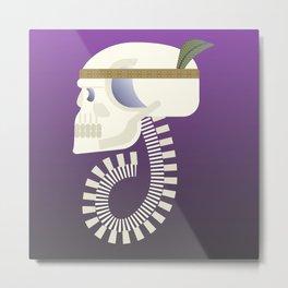 Indie G skull Metal Print
