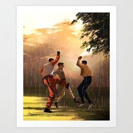 Rey's First Rain Art Print