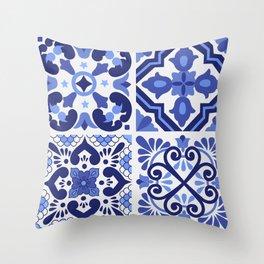 Mediterranean Tiles Design Nº1 Throw Pillow