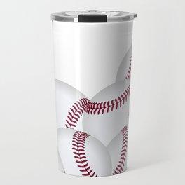 Pile of Baseballs  Travel Mug