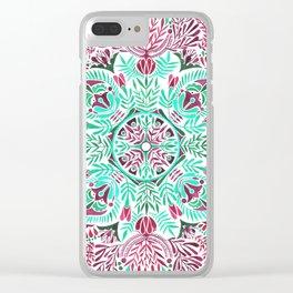 Vibrant floral mandala Clear iPhone Case