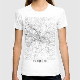 Florence White Map T-shirt
