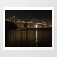 Bay Bridge at Night Art Print