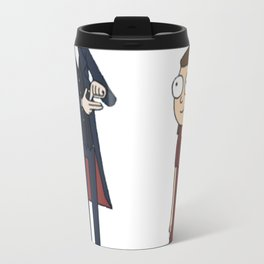 Doctor and Clara Or Rick and Morty T-Shirt Travel Mug