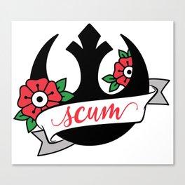 Rebel Scum Canvas Print