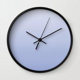 Scrub powder blue gradient Wall Clock