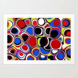 Bubbles Pouring Like Art Print