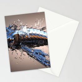 3D Model Metal Fish Stationery Cards
