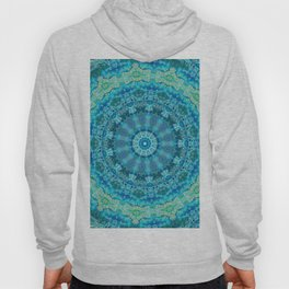 Big Blue Swirl - Abstract Kaleidoscope Art Hoody