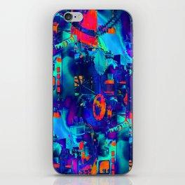 blue wattsit iPhone Skin