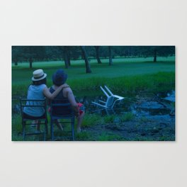 """Afternoon by the pond  from the series """"How to Spend your Summer"""" Canvas Print"""