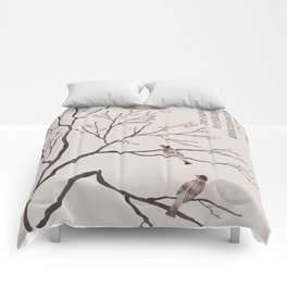 Chinese Painting -Spring (Birds) Plum Blossom  Comforters