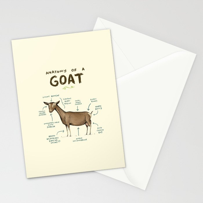 Anatomy of a Goat Stationery Cards