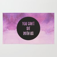 mean girls Area & Throw Rugs featuring Mean Girls by Lonely Pluto