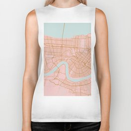 New Orleans map, Lousiana Biker Tank