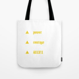 Power Courage WIFI Tote Bag