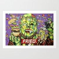 FRIED. Art Print