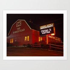 Red restaurant Art Print