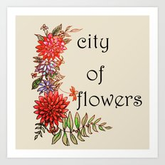 city of flowers Art Print