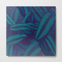 Night Tropic Jungle Metal Print