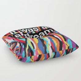 """It Was All A Dream"" Biggie Smalls Inspired Hip Hop Design Floor Pillow"