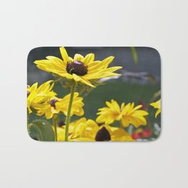 yellow flowers Bath Mat