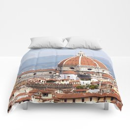 Florence cathedral dome photography Comforters