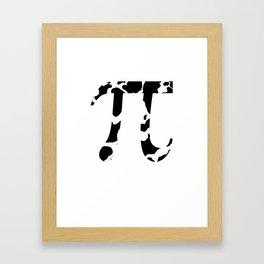Cow  Pi Framed Art Print