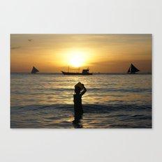 a drop in the ocean Canvas Print