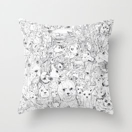 Les Chiens Throw Pillow