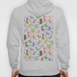 Seamless Bird Pattern Hoody