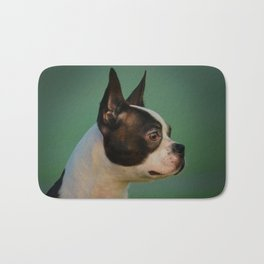 Boston Terrier dog Bath Mat