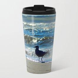 Gull at the Beach Travel Mug