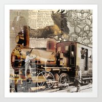 industrial Art Prints featuring Industrial by victorygarlic - Niki
