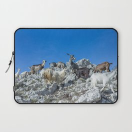 Climbing on the top of Redentore Mountain Laptop Sleeve