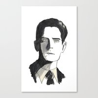twin peaks Canvas Prints featuring twin peaks by sharon