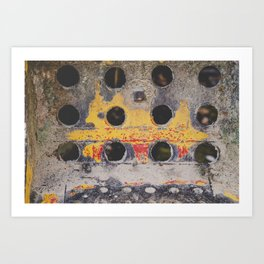 Abstract Industrial Metal Art Print