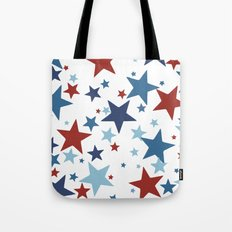 Stars - Red, White and Blue Tote Bag