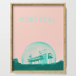 Montreal Biosphere Pastel Serving Tray