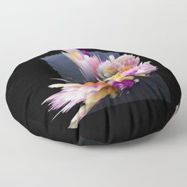 flowers 3d abstract digital painting Floor Pillow