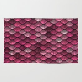 Pink Shiney Mermaid Scales Rug