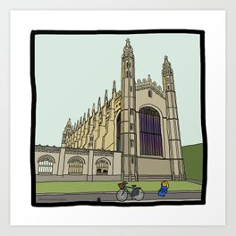 Cambridge stuggles: King's Art Print
