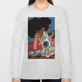 Old school Afro Long Sleeve T-shirt