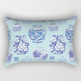 Chinoiserie Ginger Jar Collection No.3 Rectangular Pillow