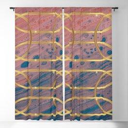 Elves Window - Elegant Marble Gold Geometry Blackout Curtain