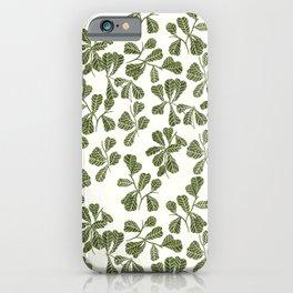 Fig Leaf Pattern iPhone Case