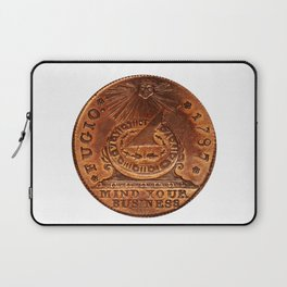 Fugio Cent Mind Your Business Laptop Sleeve